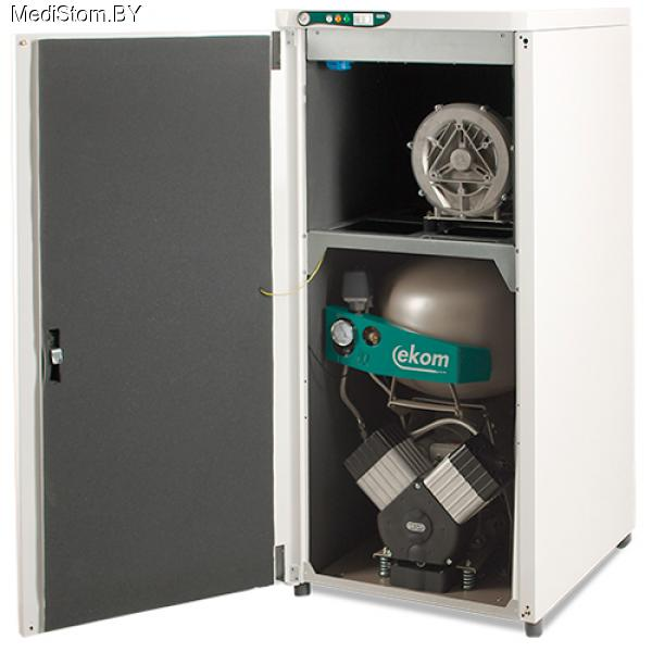DUO 2V  — компрессор с аспирационной системой в звукоизоляционном кожухе
