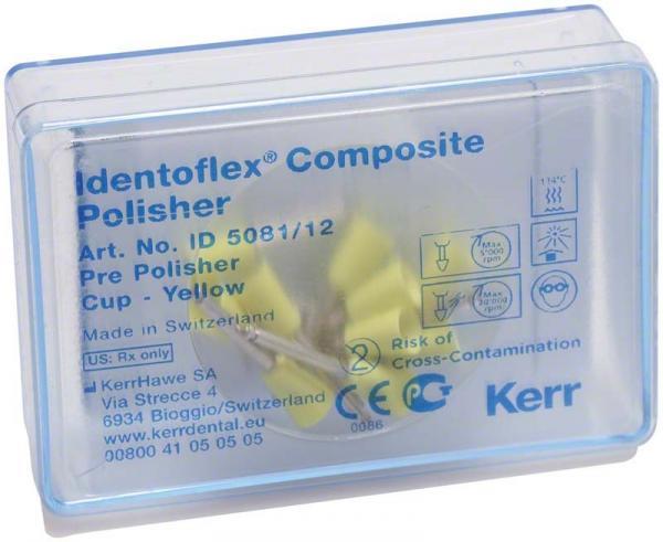 Полиры для предварительной полировки композитов Identoflex™️ Composite Polishers (полиры желтые