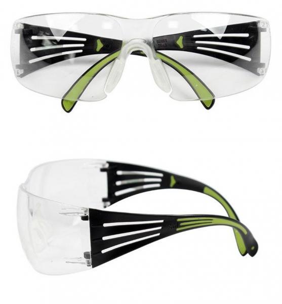 Очки защитные 3М SecureFit™ 400 (с мягкими вставками на дужках и регулируемыми носовыми упорами)