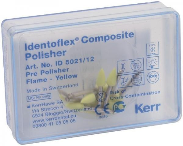 Полиры для предварительной полировки композитов Identoflex™️ Composite Polishers (пламя)
