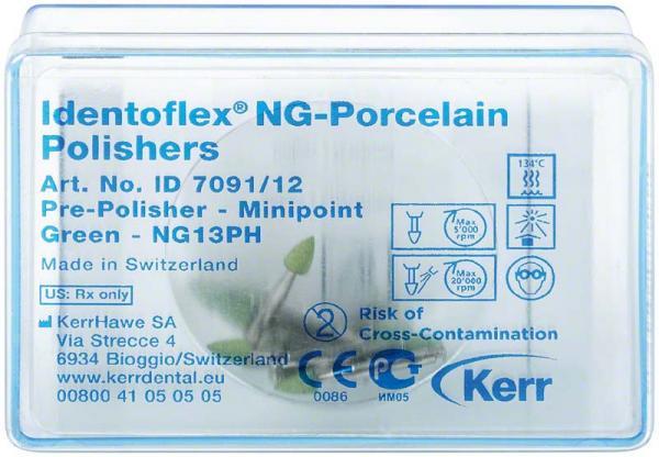 Алмазные полиры с двумя зонами для предварительной обработки керамики Identoflex™ Porcelain/ Ceramics/ Hybrid Composites (конус)