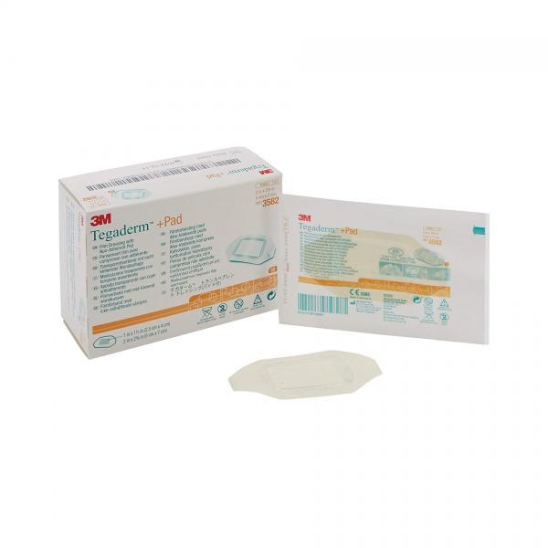 Пластырь прозрачный пленочный с абсорбирующей прокладкой Tegaderm + Pad , 5смx7см