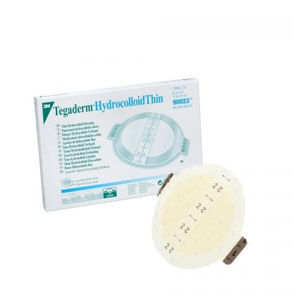 Пластырь гидроколлоидный Tegaderm Hydrocolloid Thin, 13 см x 15 см (впитывающая часть 10 см x 12 см)