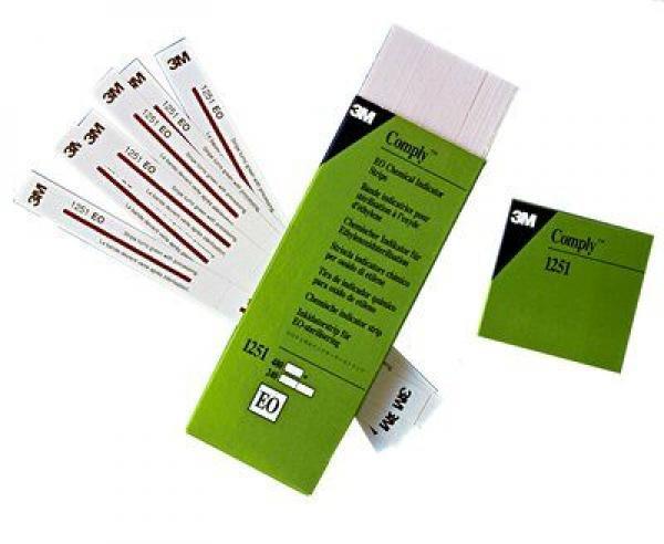 Индикатор химический 3M Comply  для контроля стерилизации этилен-оксидом (полоски)