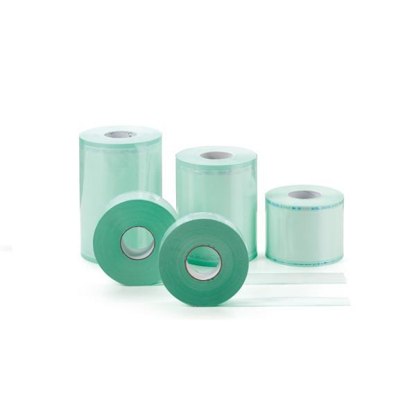 Материал упаковочный для стерилизации:  рулон плоский (длина 200 м; ширина 100 мм)