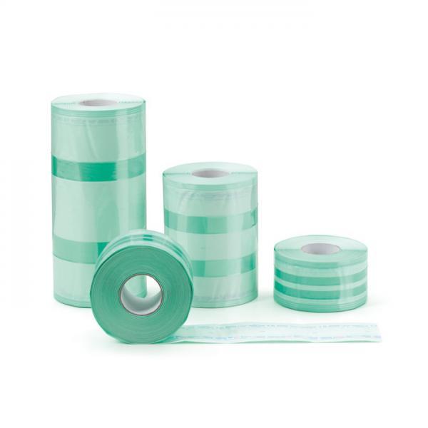 Материал упаковочный для стерилизации: рулон со складкой (длина 100 м; ширина 75 мм; складка 25 мм)